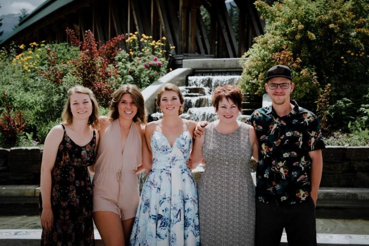 Family photographers, golden bc, spirit square, family