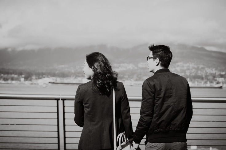 vancouver bc, engagement photographer, wedding photographer, love, couple, adventure, waterfront, olympic village